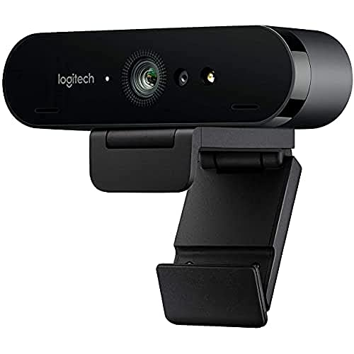 Logitech Brio Stream Webcam, Diffusion Vidéo Full HD 1080p à 60ips, Débit d'Image Ultra-Rapide, Correction d'Éclairage HD, Pour Skype, Google Hangouts, FaceTime, Pour Gamer, Portable/PC/Mac - Noire