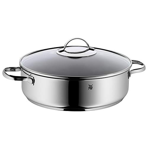 WMF 0761406380 Serving and Braising Pan with Glass Lid Diameter 28 cm