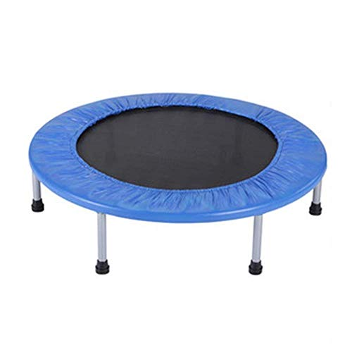 Qiutianchen Rebounder 48' Adult Gym Weight Loss Exerciser Children's Indoor Bounce Bed Baby Family Bungee Mini Trampoline Blue Four Fold Folding Max Load 150kg Fitness Trampoline Exercise Equipment