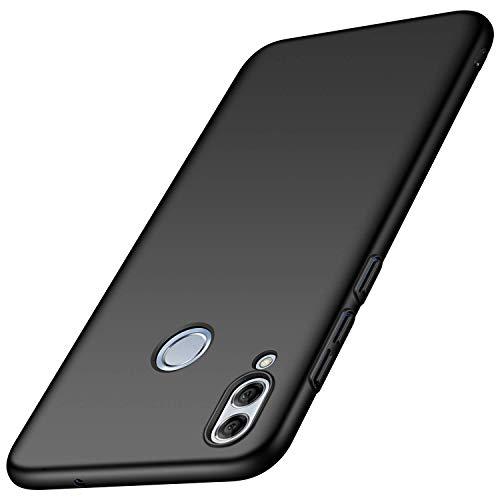 Kompatibel mit Hülle Huawei P Smart 2019 Seidiges Gefühl Ultra Slim PC dünn Matt stoßfest Schutzhülle 360 Grad Handyhülle Hülle für Huawei P Smart 2019/Nova 3i (Schwarz, Huawei P smart 2019)