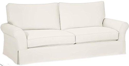 The Cotton Sofa Cover Only Fits Pottery Barn PB Comfort Grand Roll Arm Sofa. A Durable Sofa Slipcover Replacement (Beige Box Edge)