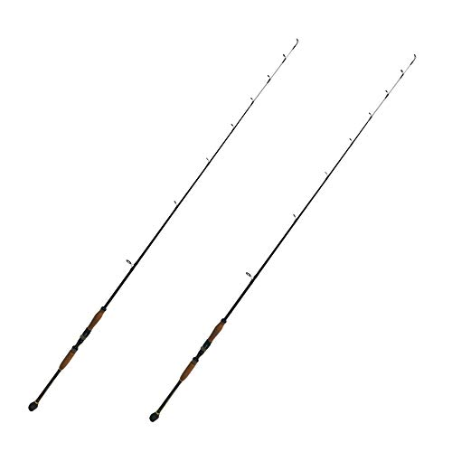 EatMyTackle Blue Marlin Spinning Rod | Saltwater Fishing Rod (12-15lb. Slow Action, 7ft. 2 Pack)