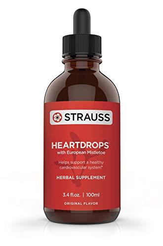 Price comparison product image Strauss Heartdrops Herbal Heart Support Supplement with European Mistletoe,  3.4 fl oz,  Original Flavor
