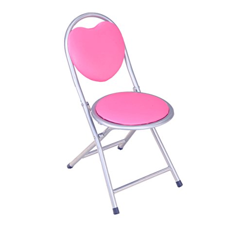 Frenchi Home Furnishing Kids Metal Folding Chair, Pink