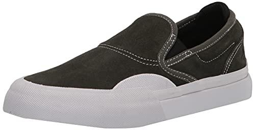 Emerica Wino G6 Slip-on, Zapatos de Skate Hombre, Verde Oliva/Blanco, 43 EU