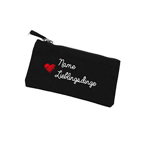 Herz & Heim® Kleine Kosmetiktasche Lieblingsdinge - black edition