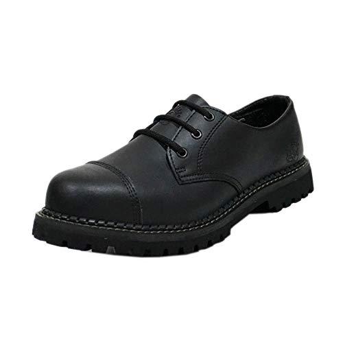 New Grinders Regent CS Noir 3 Oeillets en Cuir Cap en Acier Combat Chaussures Unisexe (Mens UK 12/ EU 46)