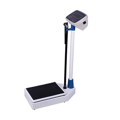 YZJJ Báscula para medir Peso y Altura Balanza Digital, Balanzas electrónicas de Altura y Peso, farmacias, hospitales, Instrumentos electrónicos Especiales para medir la Altura y el Peso de Adultos