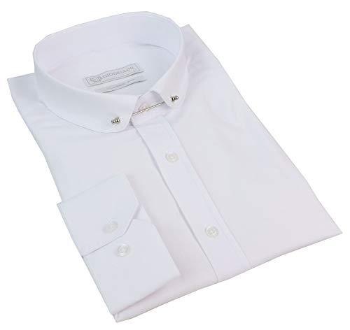 TruClothing.com Camicia Fina da Uomo Stile con Colletto Club Blinders 1920's - Bianco Small