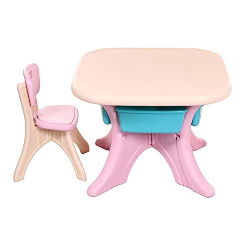 Tische CJC Tabelle Stuhl, Süß Möbel einstellen Kinder Kinder Schreibtisch, Kindergarten Innen Draussen, abspielen Kunsthandwerk Aktivitäten Picknick (Farbe : T3)