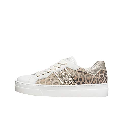 NeroGiardini E010670D Sneaker Donna Pelle/Tela - Bianco 40 EU