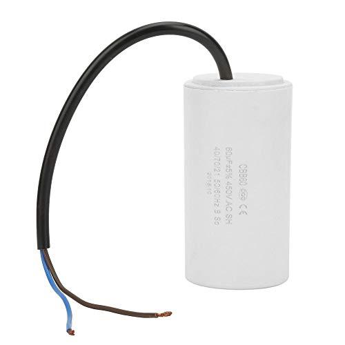 Condensador CBB60, condensador de dispositivo 450V 60uf ESR 0.2 adecuado para el arranque y el mejor funcionamiento del motor en un sistema de alimen