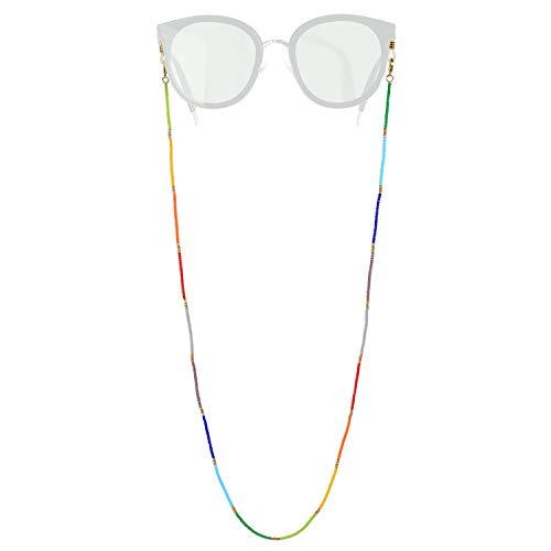 KELITCH coloré Femmes chaînes pour Masque chaînes Collier Bijoux Lunettes-chaînes Lettre Cordons Lunettes retenue Titulaire Sangle 2020 Mode Colliers