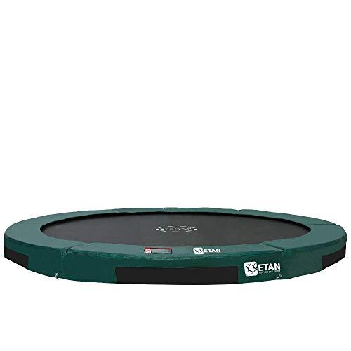 Etan Hi-Flyer Outdoor Boden Trampolin - Inground Gartentrampolin mit UV-beständiges Randabdeckung mit starkem PVC - eingegraben Trampolin Kinder - Rund - Grün - 366 cm