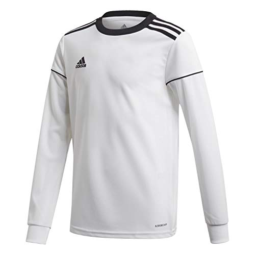 adidas Kinder Squadra 17 Jersey LS Trikot, White/Black, 128