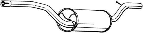 Mittelschalldämpfer (1220-1849) Dämpfer Abgasanlage Auspufftopf