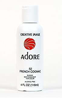 RINSE OUT SEMI-PERMANENT HAIR COLOUR FRENCH COGNAC(52) 118ML by Adore