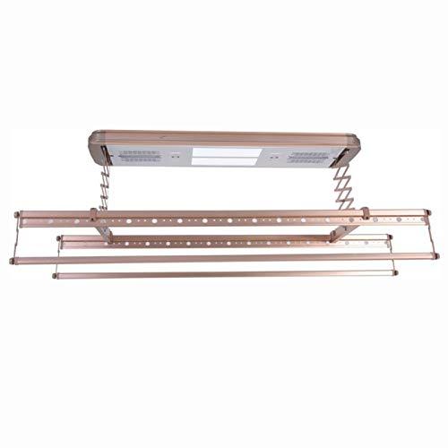 HOUSEHOLD Tendedero de Ropa de elevación automática, Multifuncional telescópico Control Remoto secador de Ropa Perchas eléctricas de Techo, Adecuado para balcón-lavandería-baño
