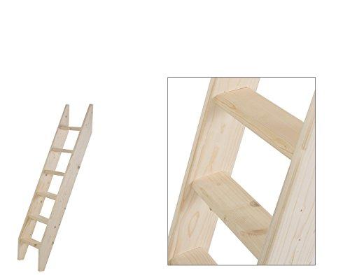 Intercon® Holztreppe aus Fichte Massivholz in 4 Größen (145, 190, 240, 260 cm) (6 Stufen (145 cm))