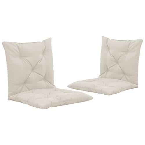 vidaXL 2X Auflage für Schaukelstuhl Auflagen Polster Kissen Sitzkissen Stuhlauflage Sitzauflagen Sitzpolster Gartenstuhl Creme Stoff