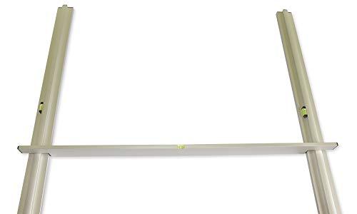 DeRiTex Abziehlehren-Sets - verschiedene Grundschienen und Abziehlehre (2x Grundschiene 2m + Lehre 2m)