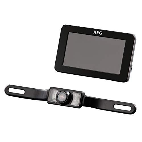 AEG 97153 Funk-Rückfahrkamera-System RV 4.3, mit LCD-Farbdisplay inklusiv Nachtsichtfunktion und Verschlüsselung