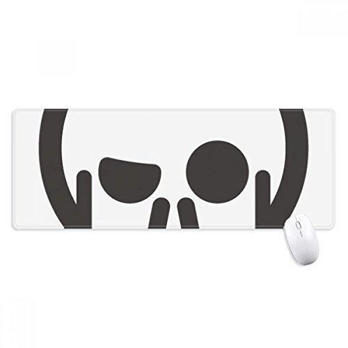 BeatChong muismat met skelet-look, schattige emoji-muismat, antislip, grote gaming-muismat, geavanceerde randen, cadeau-idee