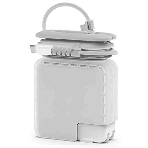 Organizador Viaje para MacBook Cable de Carga, Protectora Caja Compatible con Apple Magsafe Type C 61W 65W Cargador Accesorios Mac 13 Pulgada