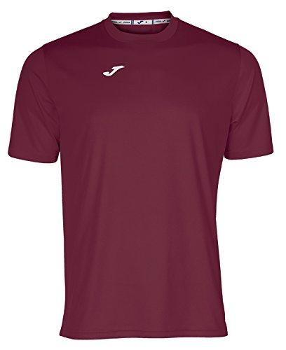 Joma Combi Camiseta Manga Corta, Hombre, Rojo (Burdeos), XL