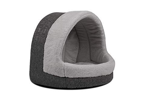 TrendPet LunaHome Kuschelhöhle für Hunde und Katzen und grau und beige (Grau)