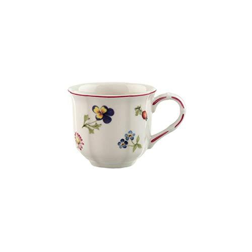 Villeroy und Boch - Petit Fleur Kaffeetasse, zarte Tasse aus Premium Porzellan mit filigranen Reliefs und blumig-fruchtigen Motiven, 200 ml