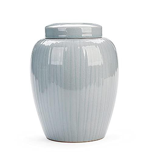 Tarro de almacenamiento de alimentos, botes de cocina, recipiente de almacenamiento de alimentos de cerámica con tapa hermética, para té suelto Café de café Azúcar especias nueces Snacks Condimentos A