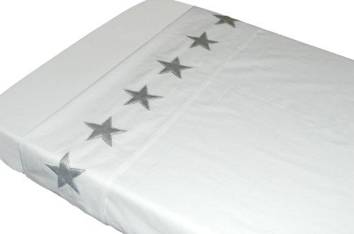 TAFTAN LB-148 Sternen Silber Überschlaglaken, 2 Masse, in 3 farben verfügbar