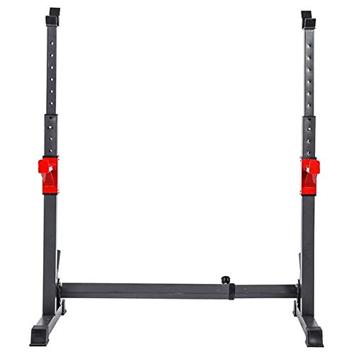 Miwaimao Squat Rack, Ajustable Jaula Sentadillas Bodybuilding Banca Press Bench Press Rack,Weight Rack para Gimnasio En Casa Ejercicio FíSico