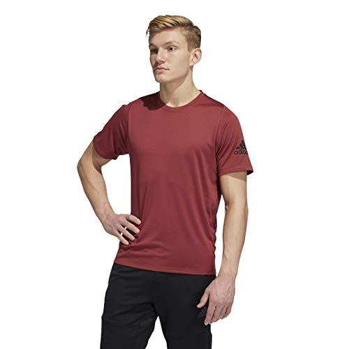 adidas Freelift_Sport Ultimate Solid Camiseta para Hombre, Hombre, Camiseta, FSK36, Rojo heredado, S