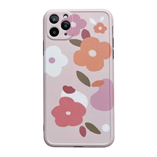 Adecuado para IPhone11pro/7/8plus Funda de silicona suave y flexible, protección contra golpes de flor mate, cuerpo ultrafino, iPhone Xsmax