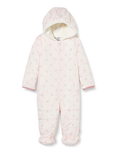 Sanetta Baby-Mädchen Outdooroverall Modisch Gesteppter Schneeanzug Fiftyseven in Hellrosa und feinem Schleifchen-Allover, rosa, 074