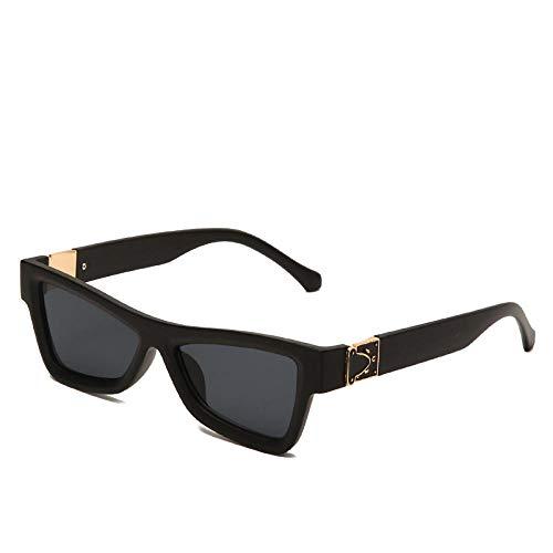 hqpaper Gafas de sol de ojo de gato para mujer, gafas de sol de moda con personalidad, Europa y América, montura roja, gris degradado, como se muestra
