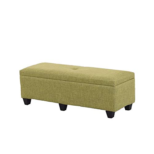 180 40 40cm Light Green Storage Stool, Thickened seat Ottoman, Storage Stool for Bedroom and Living Room Used as a Shoe Stool, Footstool, Step Stool (Size : 70X40X40CM)
