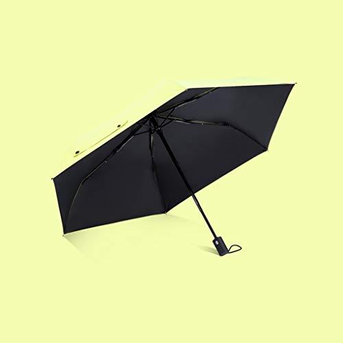 Paraguas paraguas automático impermeable Ligero e impermeable, resistente, resistente al viento, ligero y seguro. Paraguas con revestimiento de vinilo anti-ultravioleta Sombrilla plegable de color lis