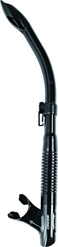 Cressi Tao Snorkel, Tubo Snorkel Semi Dry per Snorkeling, Apnea, Immersioni, Nero
