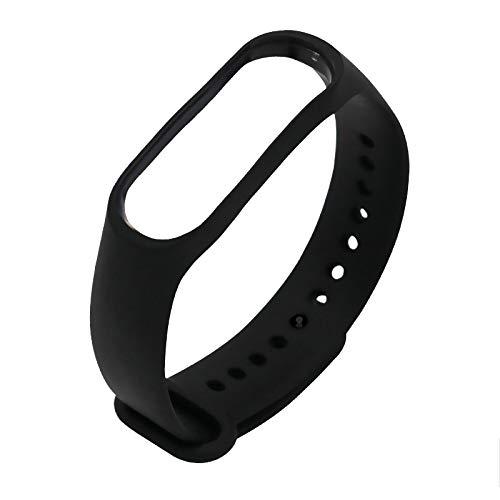 Cikuso FüR Mi Band 3 TPU Gurt Armband Ersatz Smart Sport Uhr Armband (Schwarz)