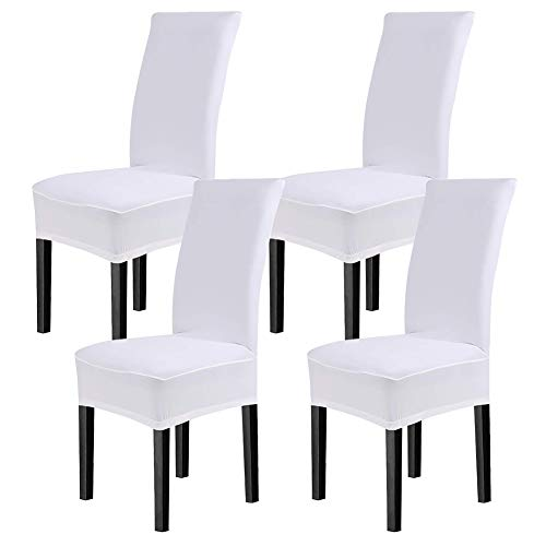 cosyvie Super Fit universal Stretch silla de comedor fundas, extraíble lavable Slipcovers para sillas de comedor 6pcs/Pack (clásica), color negro