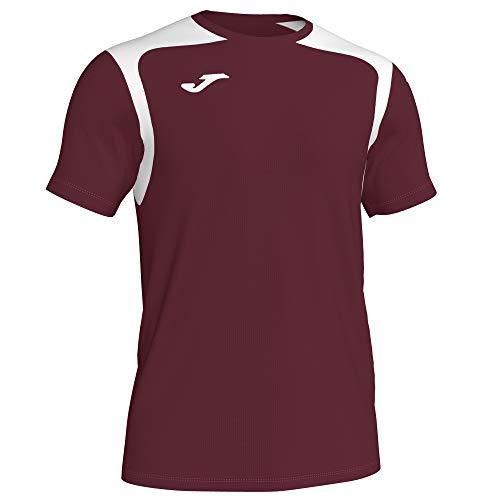 KiarenzaFD Joma T-Shirt M/C Champion V 101264 rot-gelb modisches T-Shirt Herren, 101264_672_2XL-3XL, bordeaux/blanc, XXL/XXXL EU