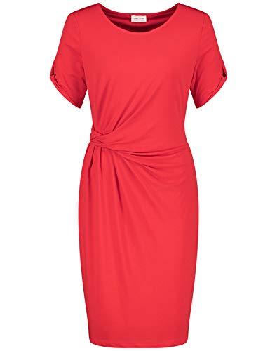 Gerry Weber Damen Kleid Mit Seitlichem Drapée Figurumspielend, Tailliert Feuer 46
