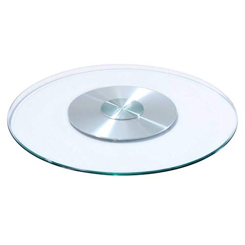 Glass Tabletop Transparent Tempered Thick Glass Base Round Countertop Rotating Tabletop With Beveled Finish For Dining Table Coffee Table Home And Office