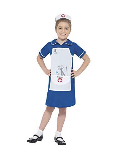 Smiffys Costume Infermiera, azzurro, con vestito e...
