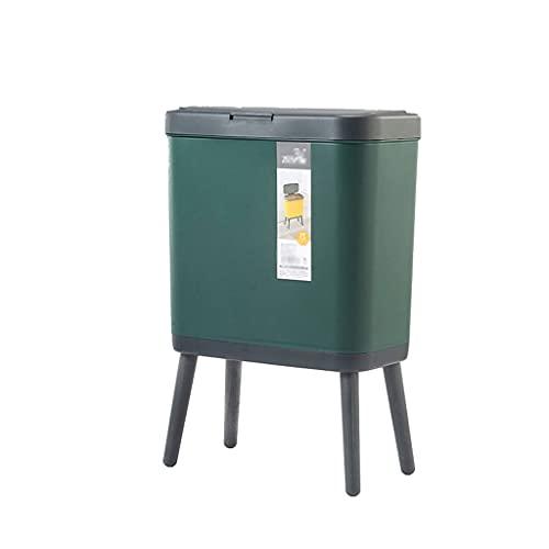 Cubo de Basura 15L Pasada de la basura de alto precio de la cocina de la cocina de la cocina de gran capacidad de gran capacidad para el hogar de la caja de estar de la postura abierta de la tapa abie