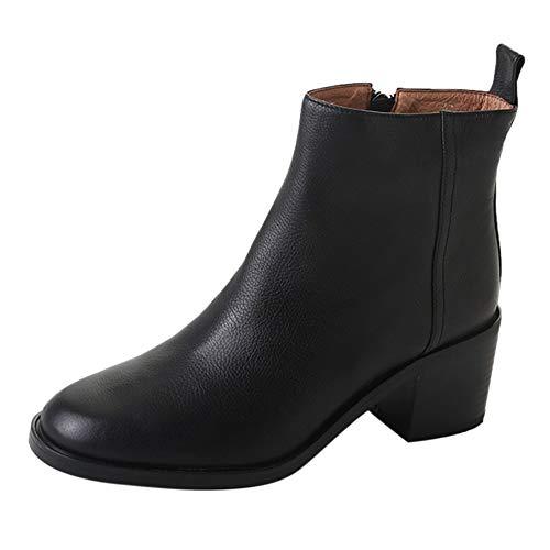 5 cm Hoch Hacke Schuhe, Frau Martain Dick Herde Wildleder- Solide Farbe runden Zehe Reißverschluss...