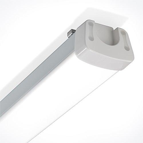 12-24V LED Feuchtraum Wannenleuchte - Lichtfarbe 5500K neutralweiß 2000lm - Leistung 20W - inkl. Seilabhängung - Innen und Außen IP65 - (LxBxH): 600x89x74mm Camping Photovoltaik Solar esotec 105306
